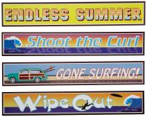 Surfer Street Sign Cutouts   (4/Pkg)