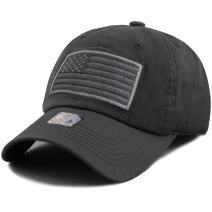 The Hat Depot Tactical Operator USA Flag Low Profile Baseball Army Military Cap