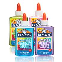 Elmer's Washable Translucent Color Glue, Great For Making Slime, Assorted Colors, 5 Ounces Each, 4 Count, 5 Oz., Standard Packaging