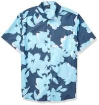 Quiksilver Men's Tech Floral Bomb Button Down Shirt