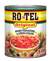 ROTEL Original Diced Tomatoes and Green Chilies, 28 Ounce, 12 Pack
