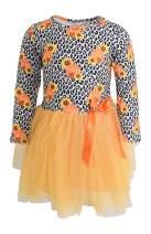 Unique Baby Girls Fall Leopard Pumpkin Sunflower Long Sleeve Tutu Dress