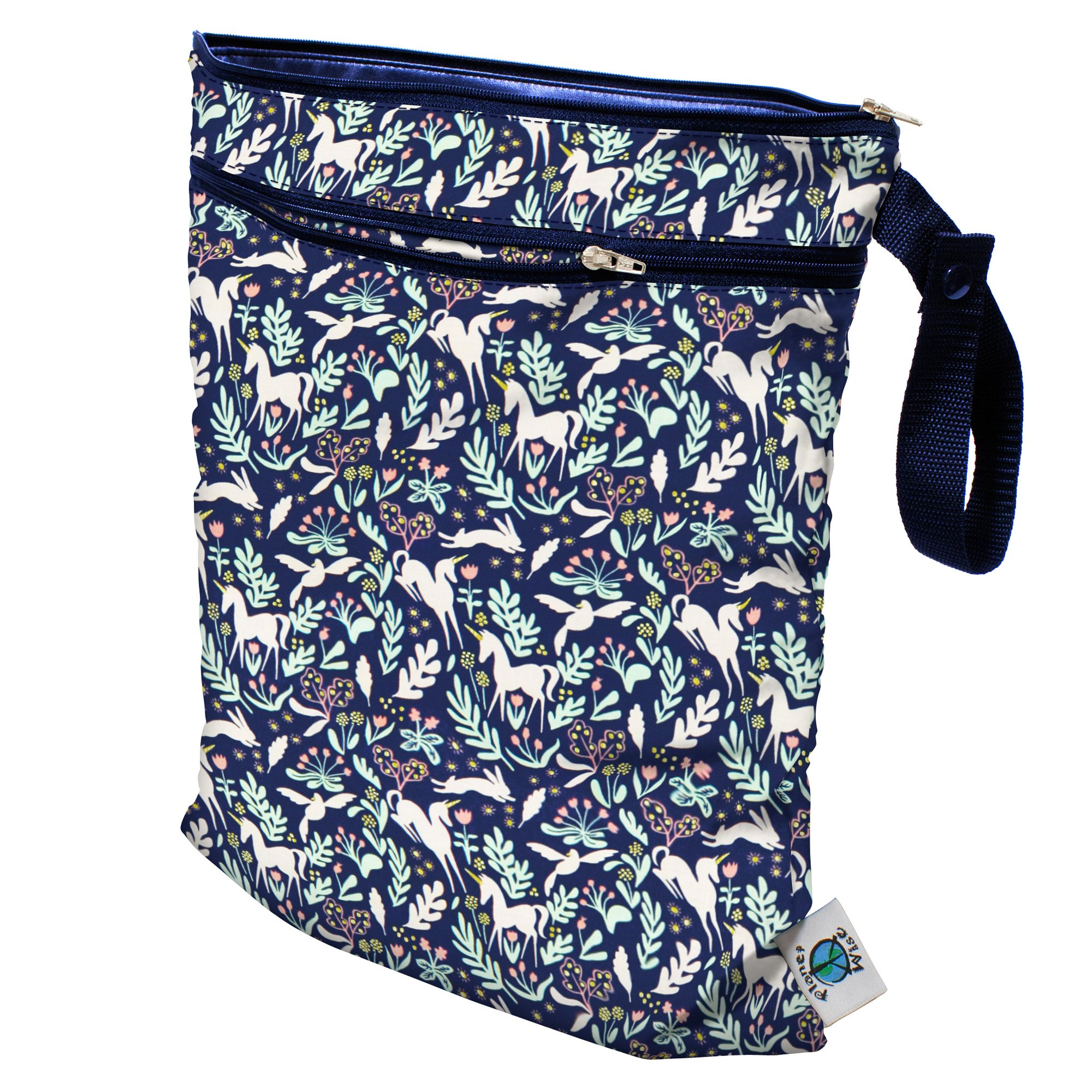 Planet Wise Wet/Dry Bag, Enchanted Unicorns, Made in The USA