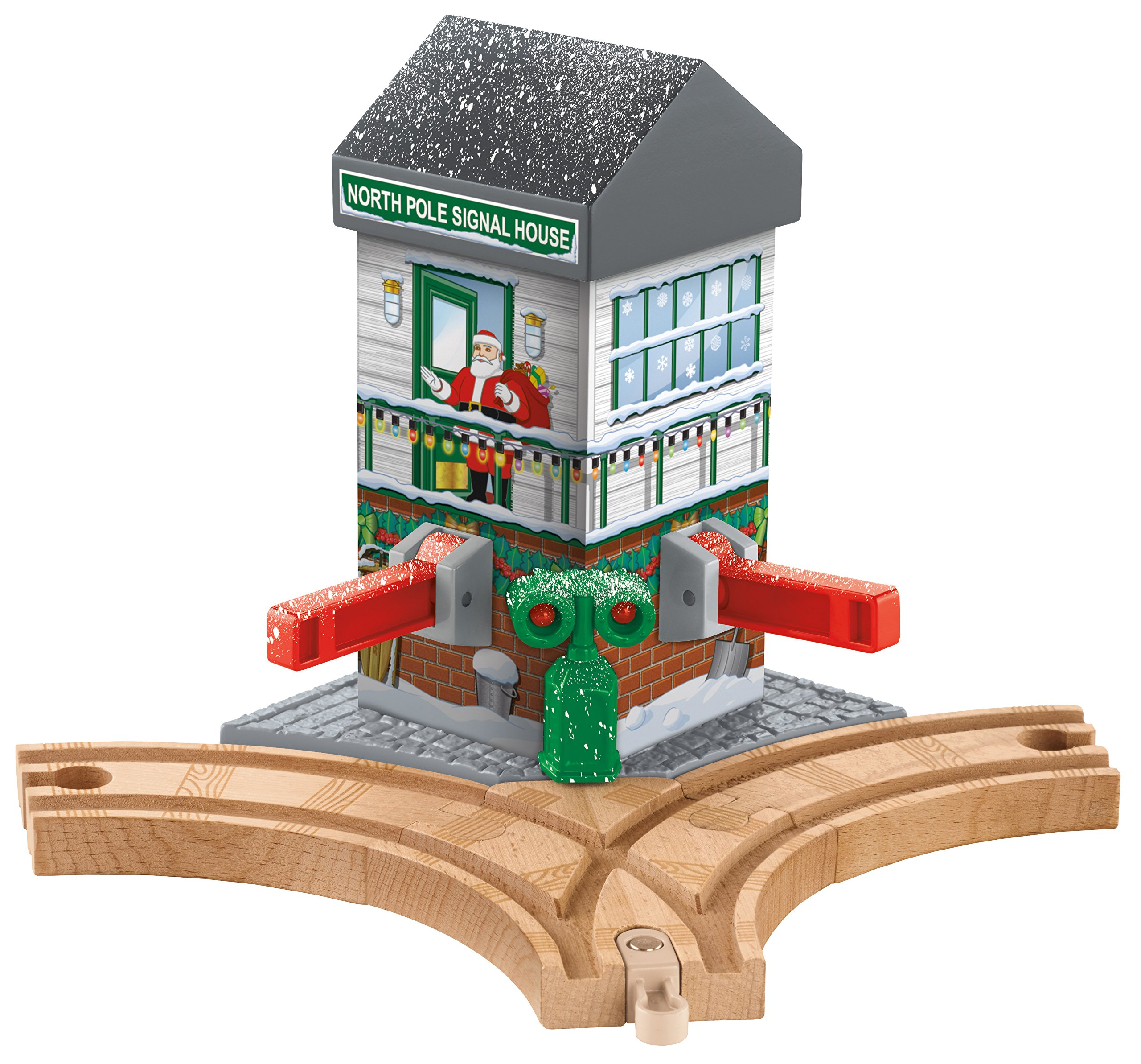 Fisher-Price Thomas & Friends Wooden Railway, Christmas Crossings - Battery Operated