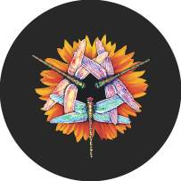 TIRE COVER CENTRAL Dragonfly Bug Kaleidoscope Wheel Spare Tire Cover (Select tire Size/Back up Camera Opening in MENU) Sized to Any Make Model for 255/75R17 Dubois(c)