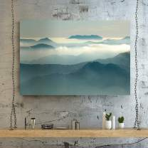 Renditions Gallery Landscape Pictures Artwork Giclee Print Canvas Art Ready to Hang for Home Wall Decor, 12x18, Above The Clouds