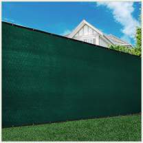 ColourTree Customized Size Fence Screen Privacy Screen Green 4' x 4' - Commercial Grade 170 GSM - Heavy Duty - Cable Zip Ties Included