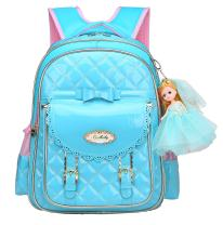 Bookbag for Girls,Waterproof PU Leather Kids Backpack Cute School Bookbag for Girls (Blue, Small)
