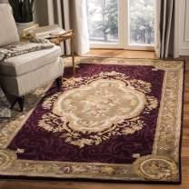 Safavieh Empire Collection EM414A Handmade Traditional European Dark Red and Dark Beige Premium Wool Area Rug (4' x 6')