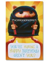 American Greetings Funny Birthday Card (Hamster Ninja)