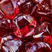 Ruby - Fire Glass Diamonds for Indoor and Outdoor Fire Pits or Fireplaces | 10 Pounds | 1 Inch