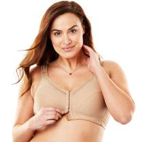 Comfort Choice Women's Plus Size Front-Close Cotton Wireless Posture Bra