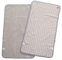 Baby-To-Love Changing Pad Cover, Changing Pad Liners Gray, Baby Diaper Changing Pad, Burp Cloth (White Stars, Bundle)