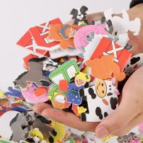 500 Pieces - Self-Adhesive Foam Farm Animal - Novelty Stickers in Bulk for Kids & Toddlers