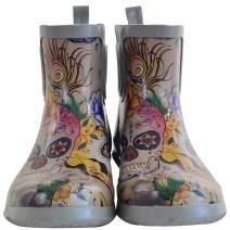 Anuschka Women's Ankle Rain Boot | Handmade Waterproof Natural Rubber | Memory Foam Insole