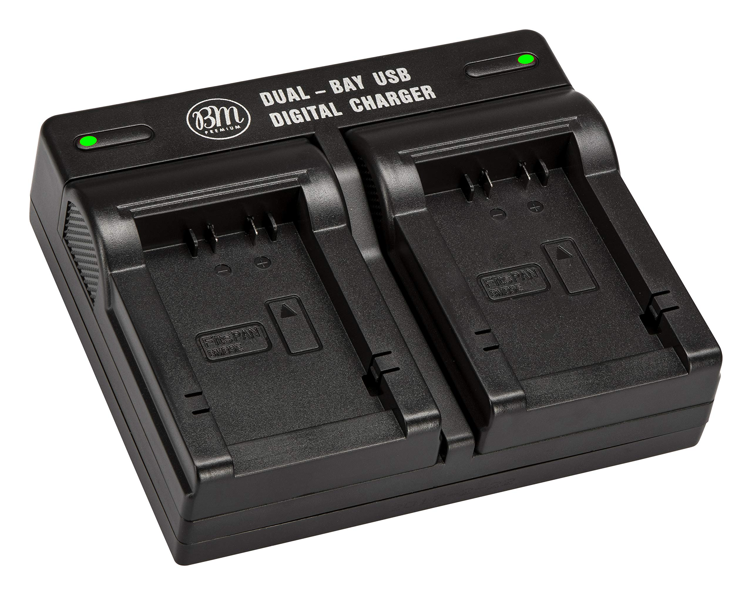BM Premium DMW-BMB9 Dual Battery Charger for Panasonic Lumix DMC-FZ40K, DMC-FZ45K, DMC-FZ47K, DMC-FZ48K, DMC-FZ60, DMC-FZ70, DMC -FZ100, DMC-FZ150 Digital Camera