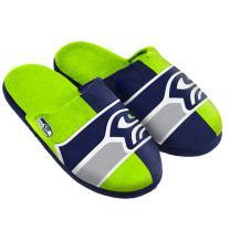 FOCO NFL Unisex NFL Split Color Slide Slipper