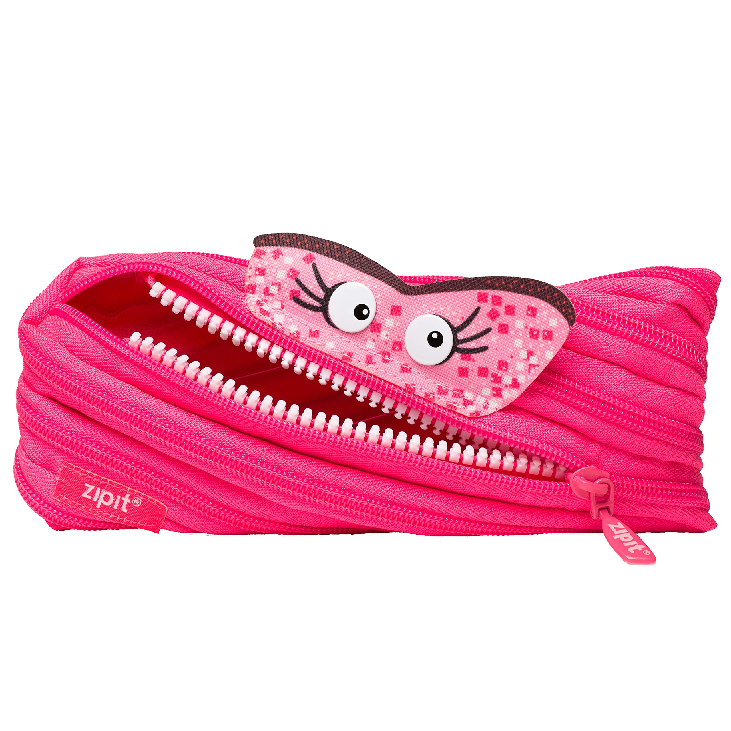 ZIPIT Talking Monstar Pencil Case, Pink