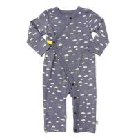 Finn + Emma Organic Cotton One-Piece Baby Coverall - Cloudy Sky, 3-6 Months