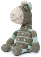 Finn + Emma Rattle Buddy Organic Cotton Knit Rattle for Baby Boy or Girl – Ami The Giraffe