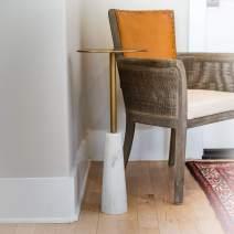 Alveare Home Seaham Drink End, Side Table for Living Room, Bedroom Furniture, Gold