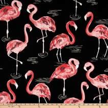 Tempro Fabrics Terrasol Indoor/Outdoor Flamingo Black