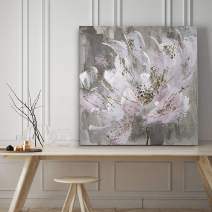 WEXFORD HOME Blushy and Splashy Gallery Wrapped Canvas Wall Art, 24x24