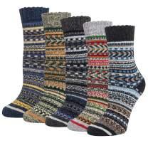 5 Pairs Womens Wool Socks Winter Cute Cat Warm Socks Thick Knit Cozy Socks Gifts for Women