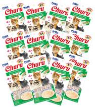 INABA Churu Tuna with Chicken Recipe Lickable Creamy Purée Cat Treats 48 Tubes