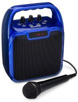 SoundBeast Pegasus Karaoke Machine & Portable PA Speaker System For Kids & Adults - With Microphone & Bluetooth (Blue)