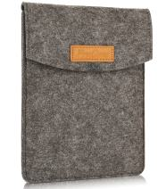 """ProCase 6 Inch Sleeve Case Bag, Portable Felt Carrying Pouch Protective Cover for 5-6"""" Inch Tablet Smartphone E-Reader E-Book -Black"""