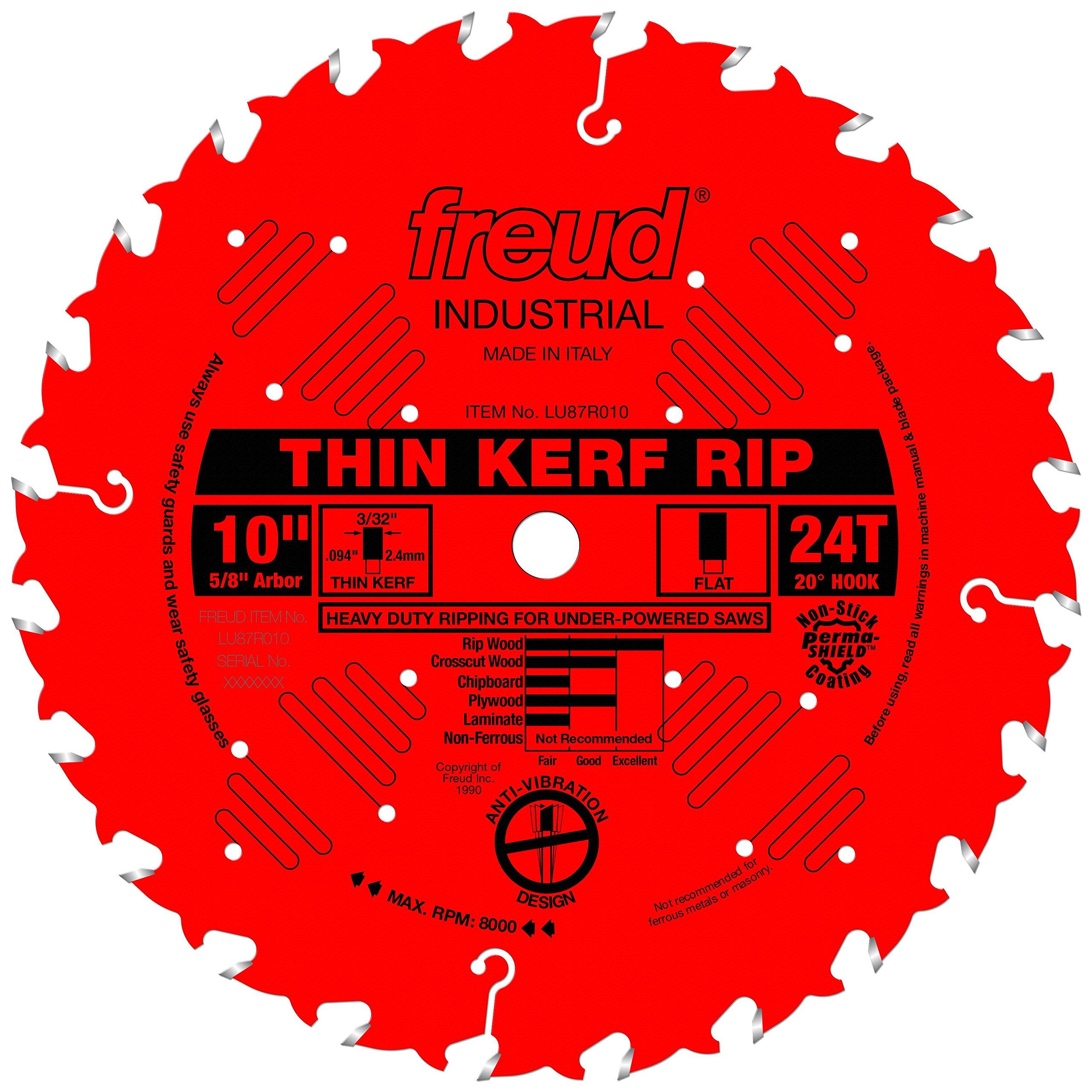 "Freud 10"" x 24T Thin Kerf Rip Blade (LU87R010)"