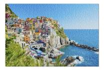 Colorful Buildings of Cinque Terre National Park, Italy A-91427 (Premium 500 Piece Jigsaw Puzzle for Adults, 13x19, Made in USA!)