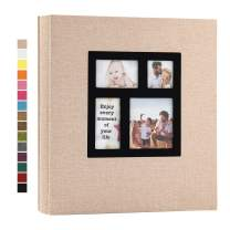 potricher Photo Album 4x6 1000 Photos Linen Hardcover Large Capacity for Family Wedding Anniversary Baby Vacation (Beige, 1000 Pockets)