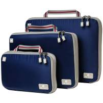 Compression Packing Cubes for Travel - Bag Factor Premium Luggage Organizer, 3pc