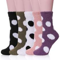 Womens Fuzzy Slipper Socks Animal Soft Warm Cute Microfiber Cozy Fluffy Winter Christmas Socks