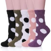 Womens Fuzzy Slipper Socks Animal Soft Warm Cute Microfiber Cozy Fluffy Winter Christmas Socks