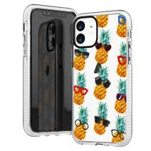iPhone 11 Case,Hipster Funny Cool Pineapple with Sunglasses Tropical Aloha Summer Beach Fruits Trendy Chic Sassy Girls Women Teens Simple Chic Soft Clear Case with Design Compatible for iPhone 11