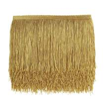 10 Yards Sewing Fringe Trim - 6in Wide Tassel for DIY Craft Clothing and Dress Decoration (Gold)