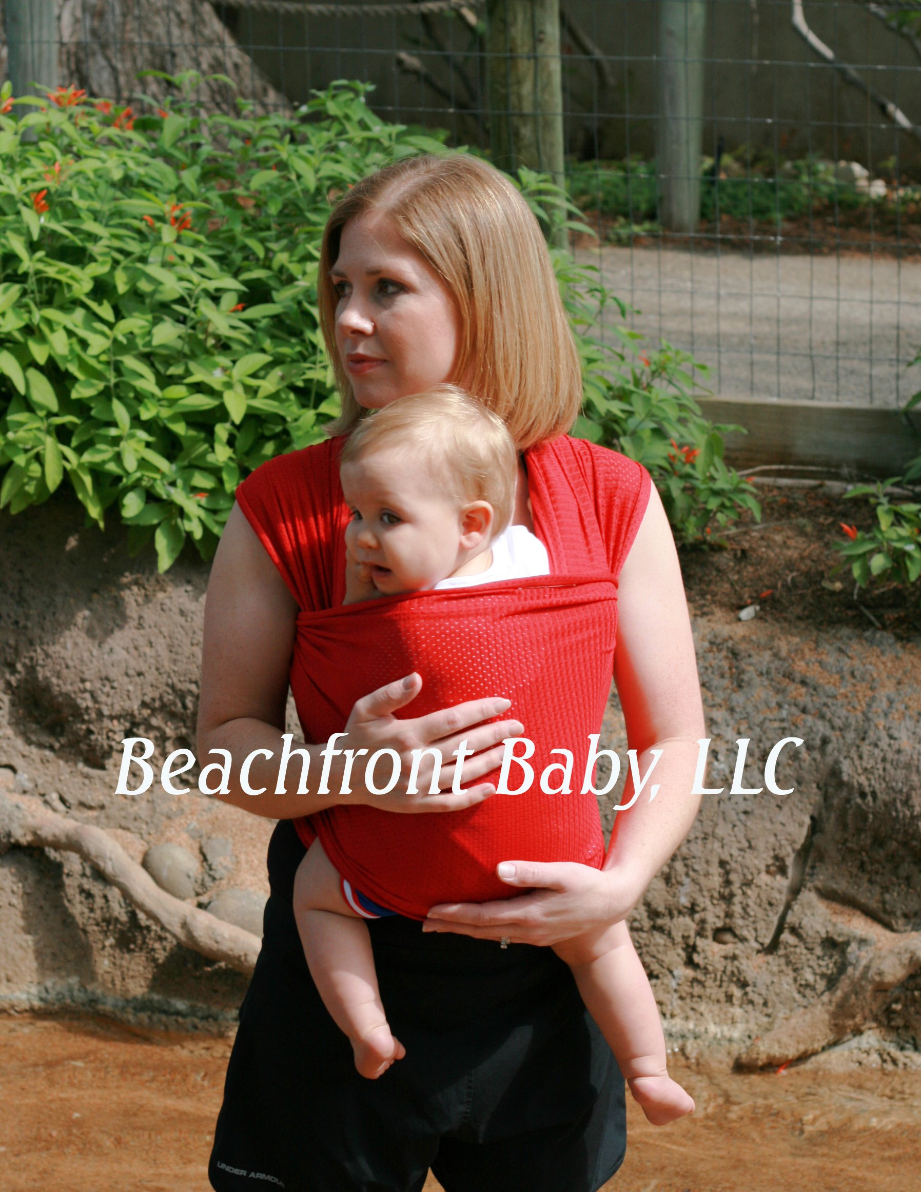 Beachfront Baby Wrap - Versatile Water & Warm Weather Baby Carrier | Made in USA with Safety Tested Fabric, CPSIA & ASTM Compliant | Lightweight, Quick Dry (Tropical Punch, X-Long)