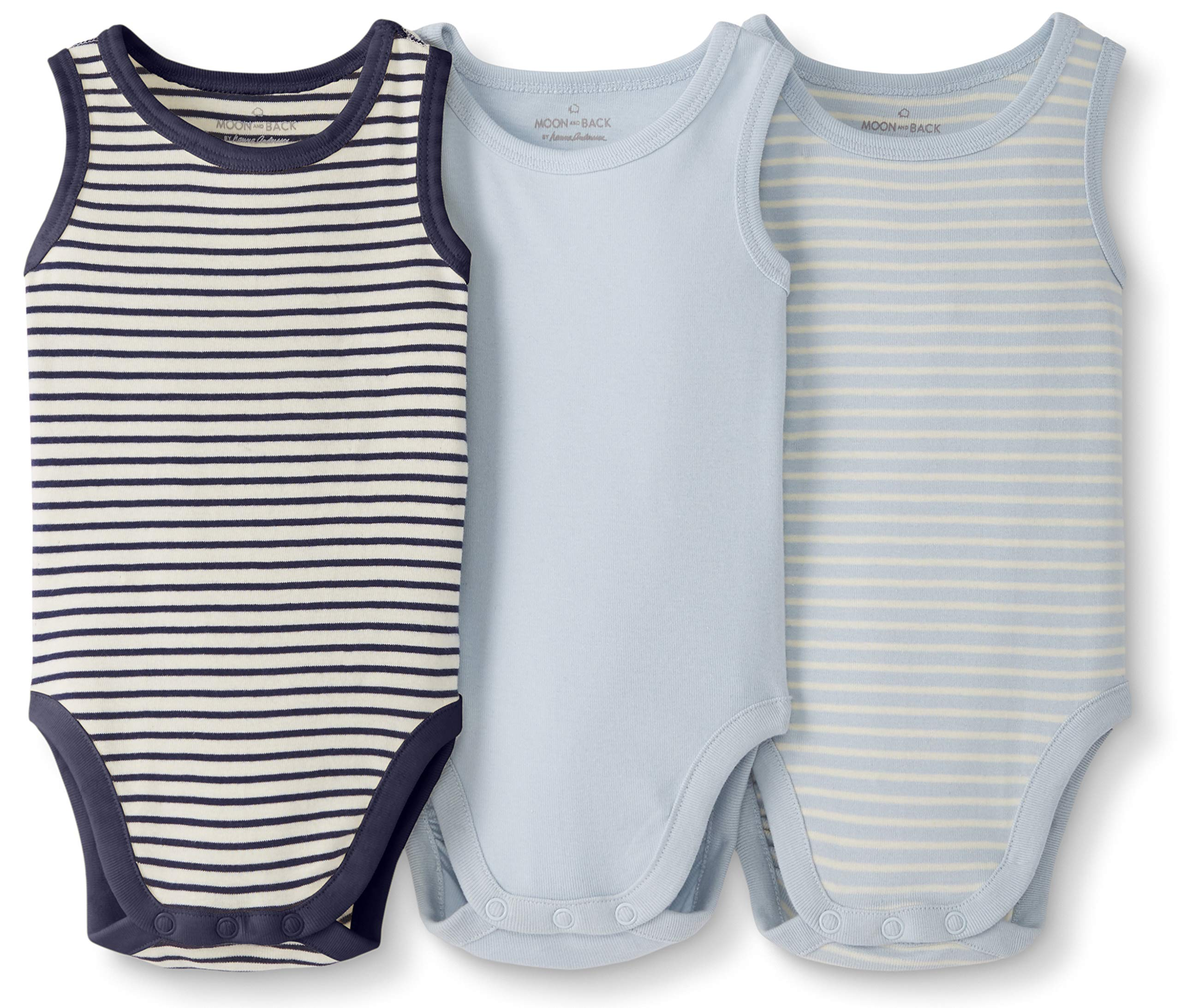 Bodysuit Zinc Stripe 2Fer 100/% Organic Cotton Short Sleeve and Long Sleeve One-Piece Bodysuits 12 Months