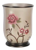 Popular Bath Waste Basket, Larrisa Collection, Rose Design