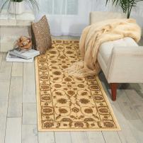 """Nourison Paramount Beige Runner Area Rug, 2-Feet 2-Inches by 7-Feet 3-Inches (2'2"""" x 7'3"""")"""