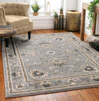 Sultan Sarouk Grey Oriental Area Rug Persian Floral Formal Traditional Area Rug 11' x 15' Easy Clean Stain Fade Resistant Shed Free Modern Classic Contemporary Thick Soft Plush Living Dining Room Rug