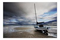 Beached Sailboat (Premium 1000 Piece Jigsaw Puzzle for Adults, 19x27, Made in USA!)