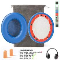 EARSUN Replacement Beats Studio 2 Beats Studio 3 Wireless Ear Cushions Pads Muffs for Over Ear Headphones Wireless B0501 Wired B0500 (Not Compatible Any Other Models !!!) - Blue