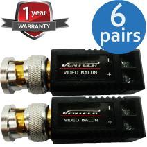 VENTECH 6 Pair (12 Pcs) Mini CCTV BNC Video Balun Transceiver Cable Screw Terminal Block Design
