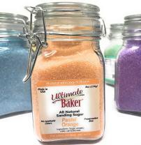 Ultimate Baker Natural Sanding Sugar - Fine Crystal (Pastel Orange, 8oz)