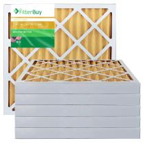 FilterBuy 18x20x2 MERV 11 Pleated AC Furnace Air Filter, (Pack of 6 Filters), 18x20x2 – Gold