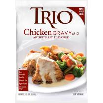 Trio Chicken Gravy Mix, Holiday Roasts, Dehydrated, Just Add Water, 22.6 oz Bag